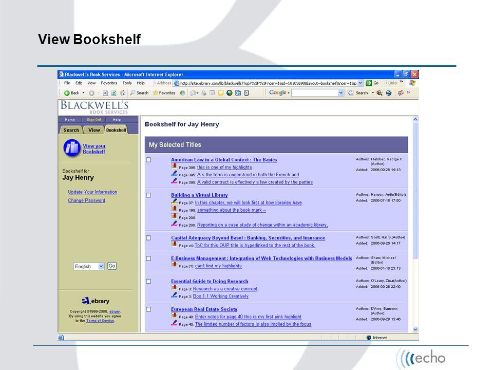 View Bookshelf