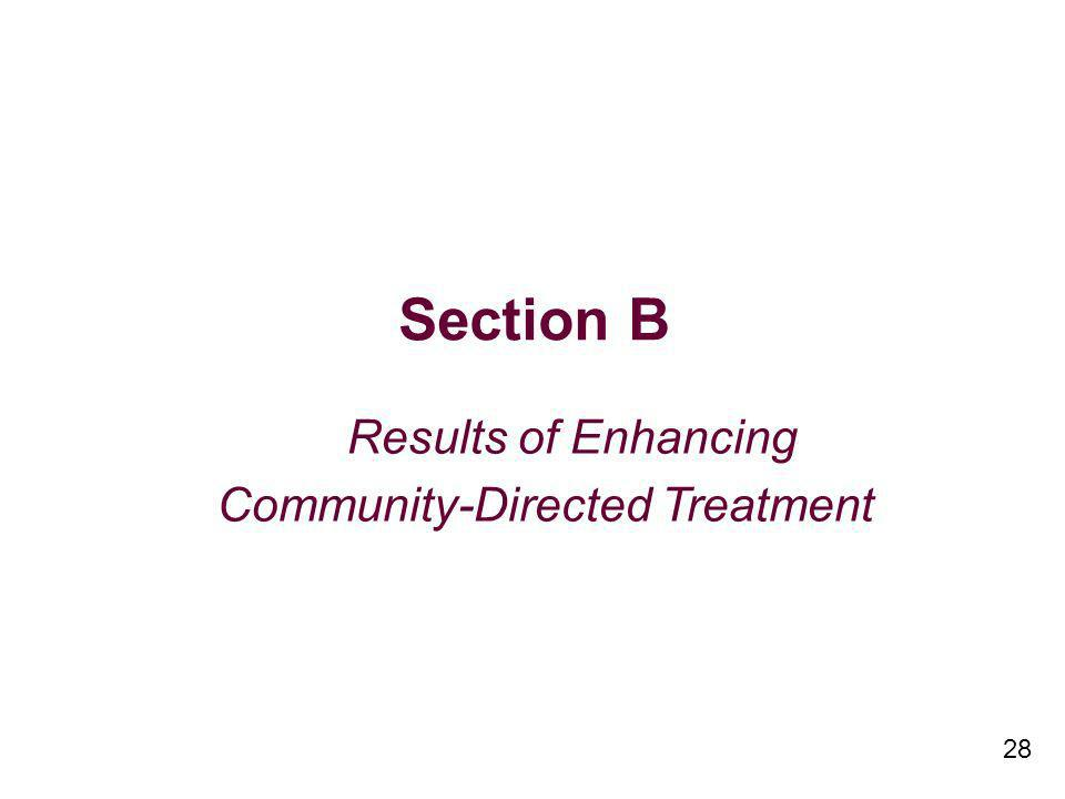 28 Section B Results of Enhancing Community-Directed Treatment