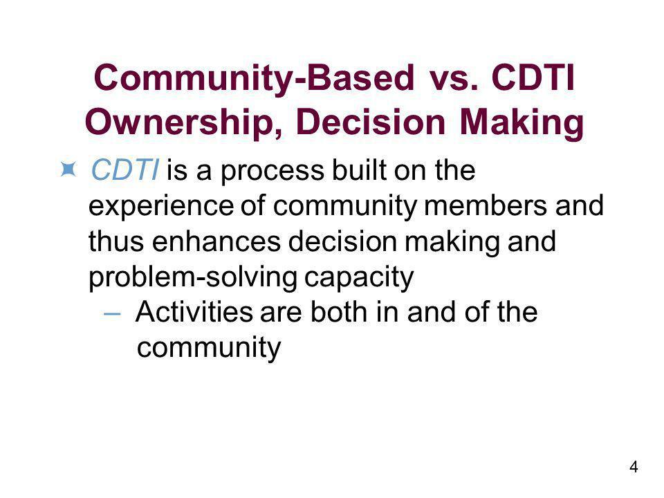 4 Community-Based vs.