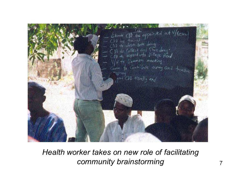 7 Health worker takes on new role of facilitating community brainstorming