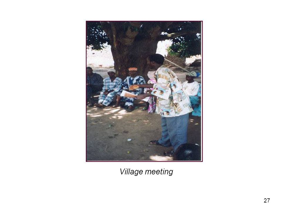 Village meeting 27