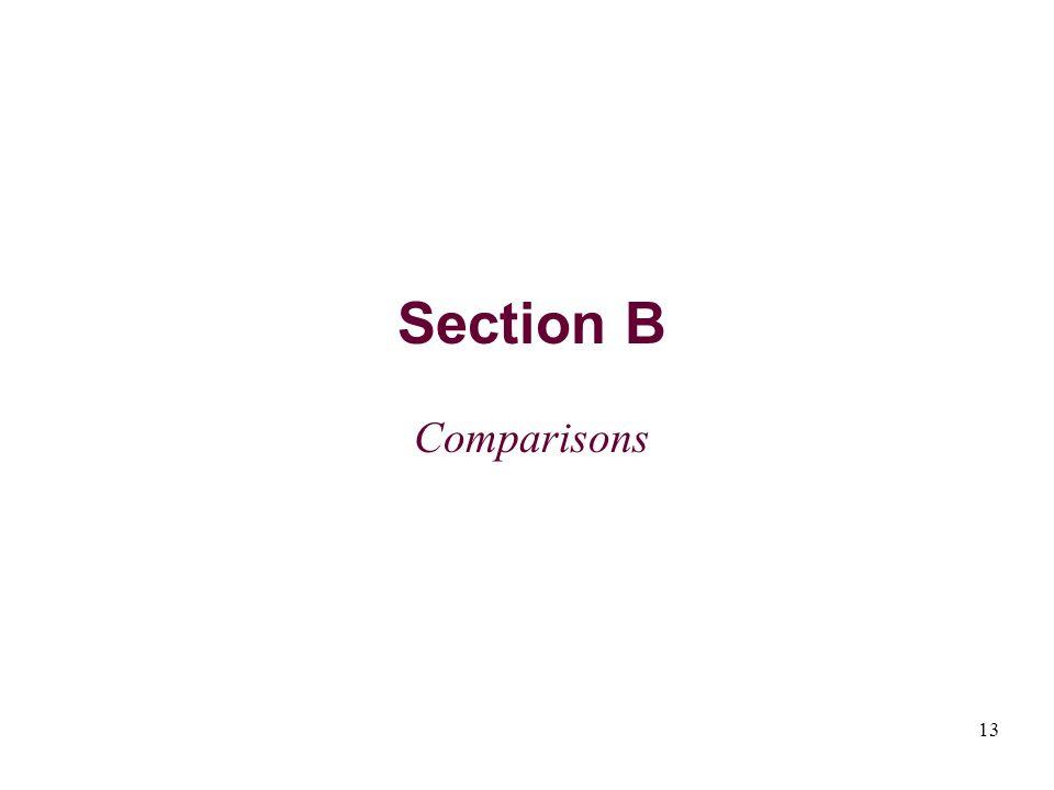 13 Section B Comparisons