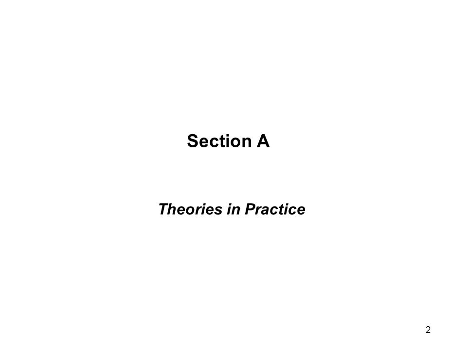 Section A Theories in Practice 2