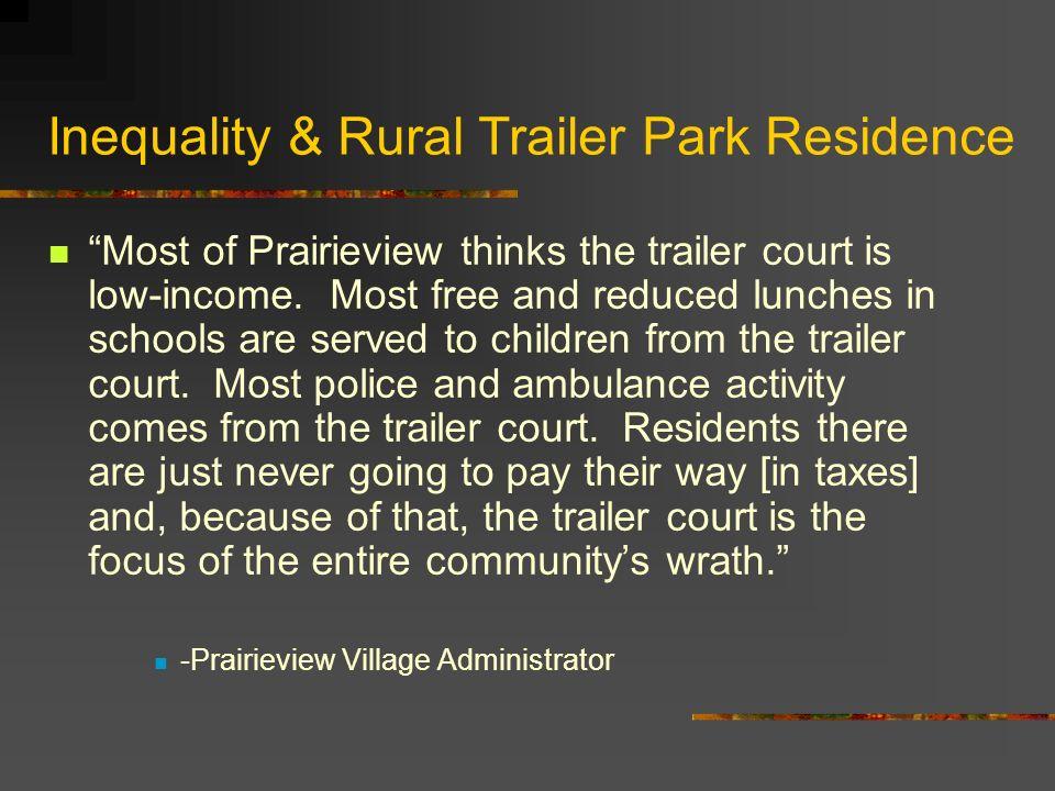 Inequality & Rural Trailer Park Residence