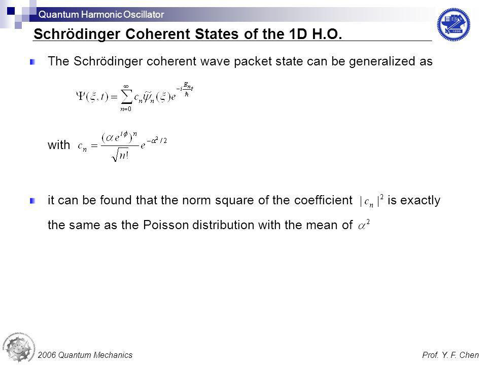 The Schrödinger coherent wave packet state can be generalized as with it can be found that the norm square of the coefficient is exactly the same as t
