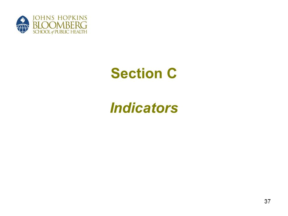 37 Section C Indicators