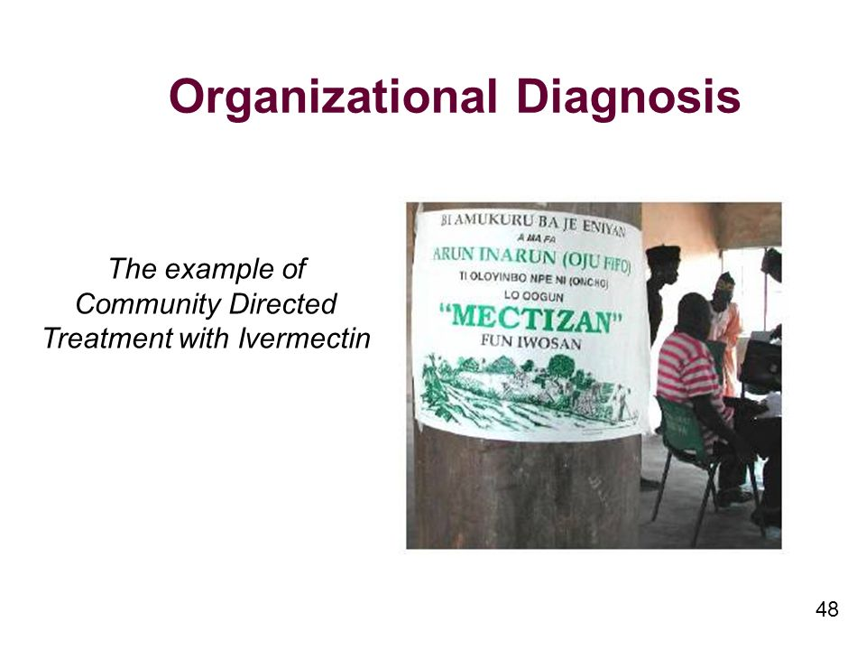 48 Organizational Diagnosis The example of Community Directed Treatment with Ivermectin