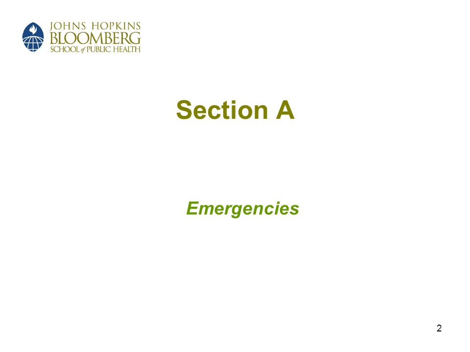 2 Section A Emergencies