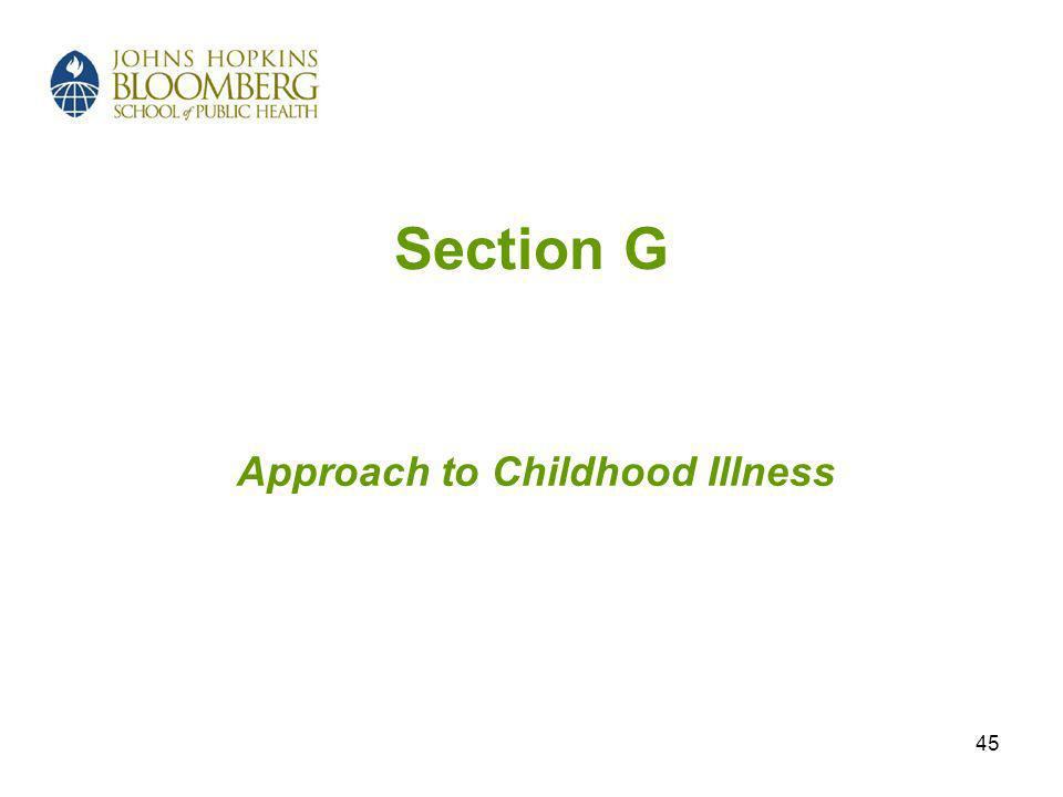 45 Section G Approach to Childhood Illness