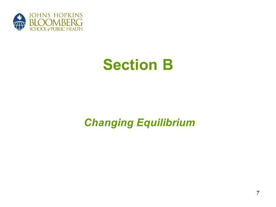 7 Section B Changing Equilibrium