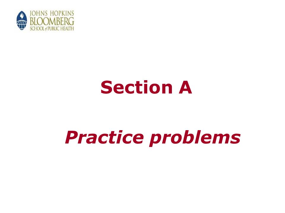 Section A Practice problems