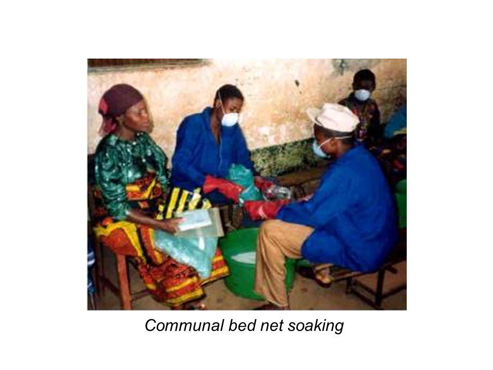 Communal bed net soaking