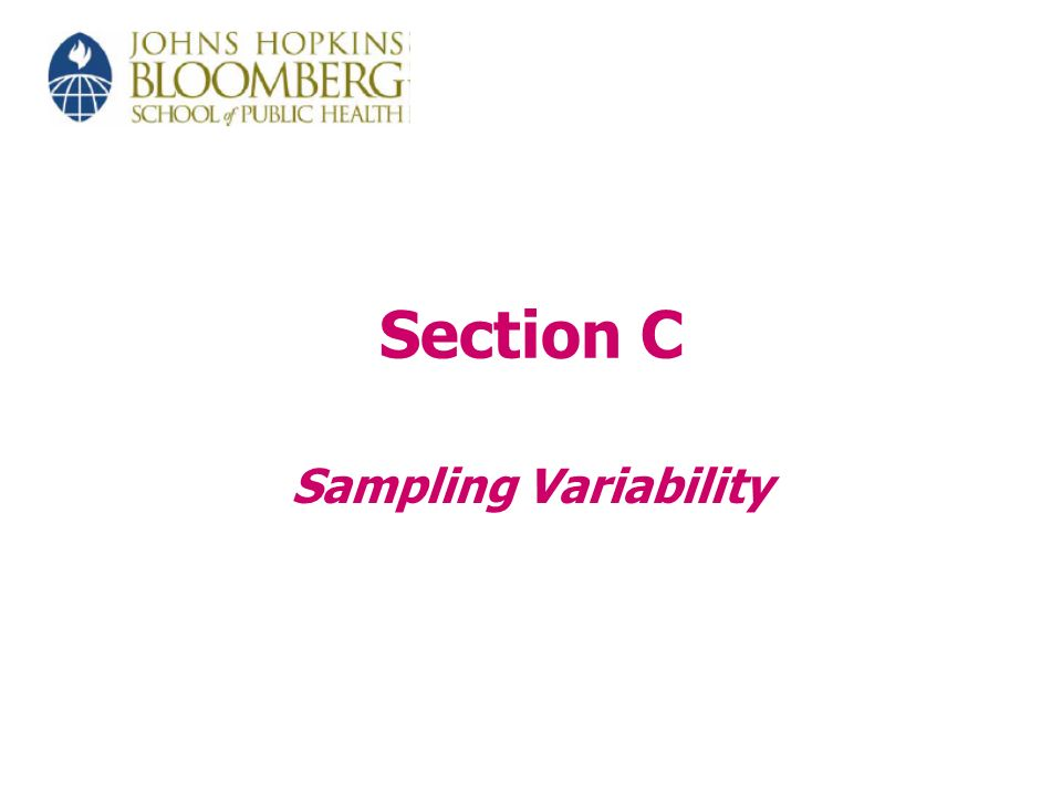 Section C Sampling Variability