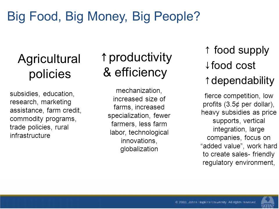 Big Food, Big Money, Big People.