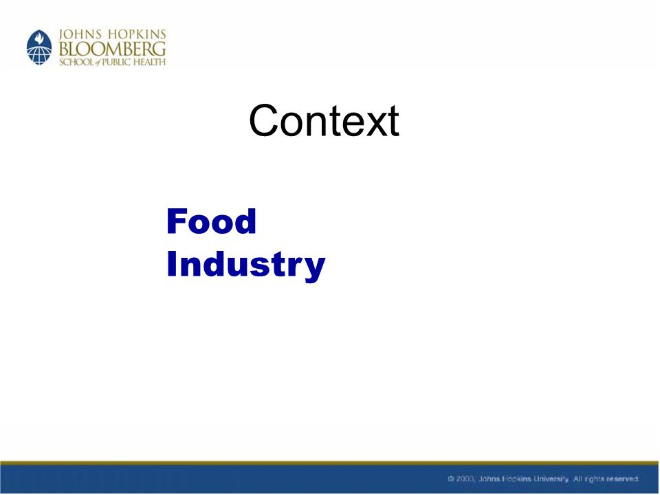 Context Food Industry