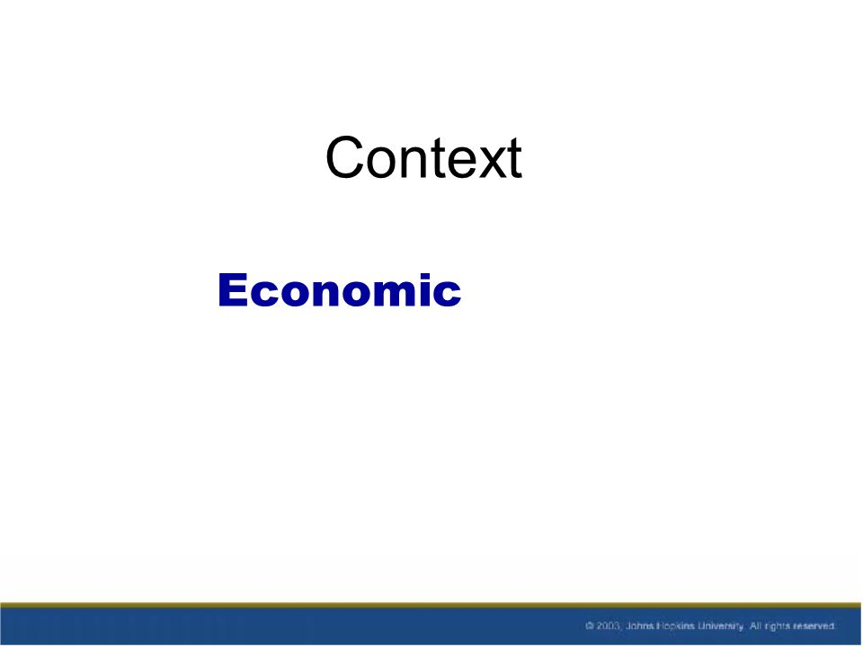 Context Economic