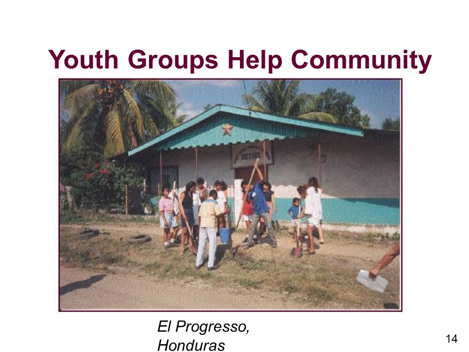 14 Youth Groups Help Community El Progresso, Honduras
