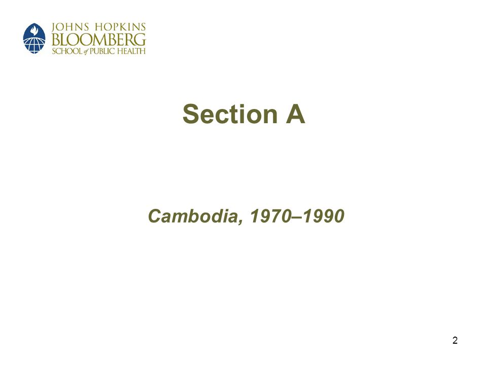 2 Section A Cambodia, 1970–1990
