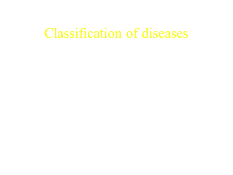 Classification of diseases Waterborne diseases Water based diseases Water-washed diseases Diseases of defective sanitation