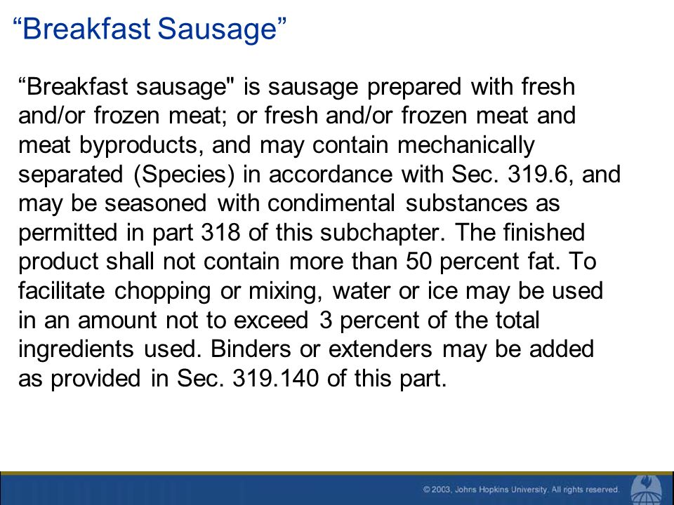 Breakfast Sausage Breakfast sausage