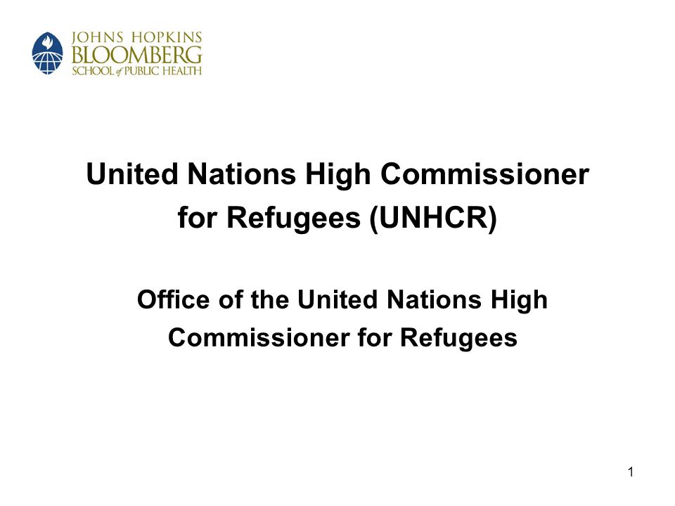 2 Section A Overview of UNHCR and its Mandate
