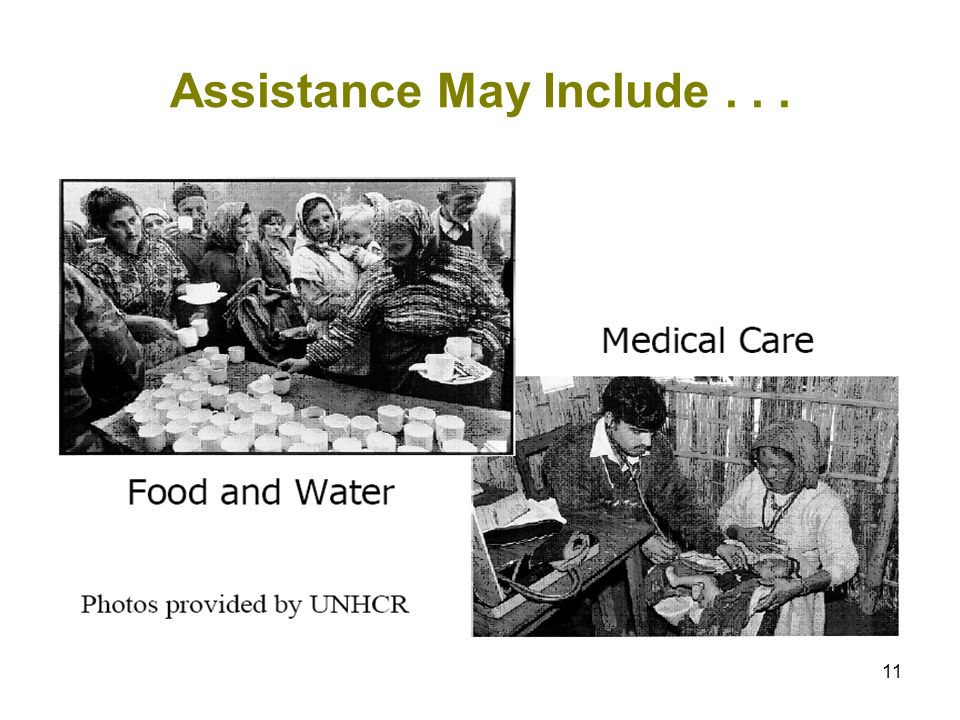 11 Assistance May Include...