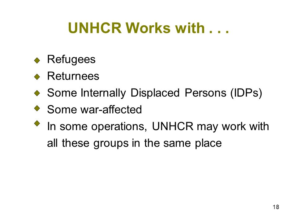 18 UNHCR Works with...