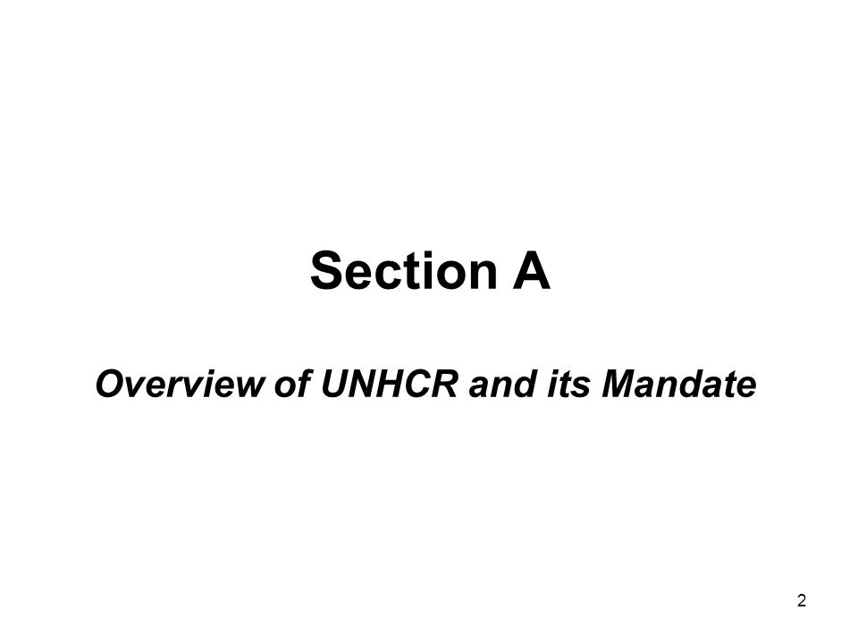 3 UNHCR Statute The United Nations General Assembly adopted the statute creating UNHCR on December 14, 1950 UNHCR had a temporary mandate renewed every five years, however in 2003 the United Nations General Assembly removed the time limitation on the continuation of the Office until the refugee problem is solved.