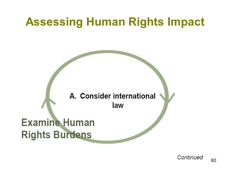 60 Assessing Human Rights Impact Continued