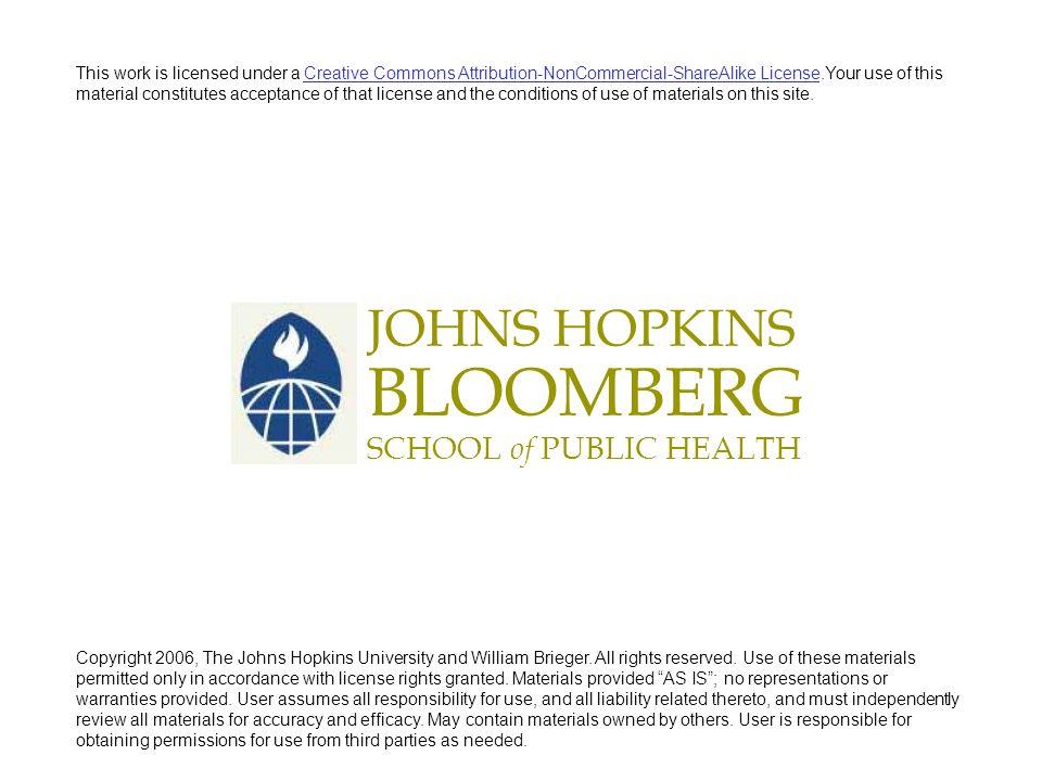 JOHNS HOPKINS BLOOMBERG SCHOOL of PUBLIC HEALTH Describing Data: Part I John McGready Johns Hopkins University