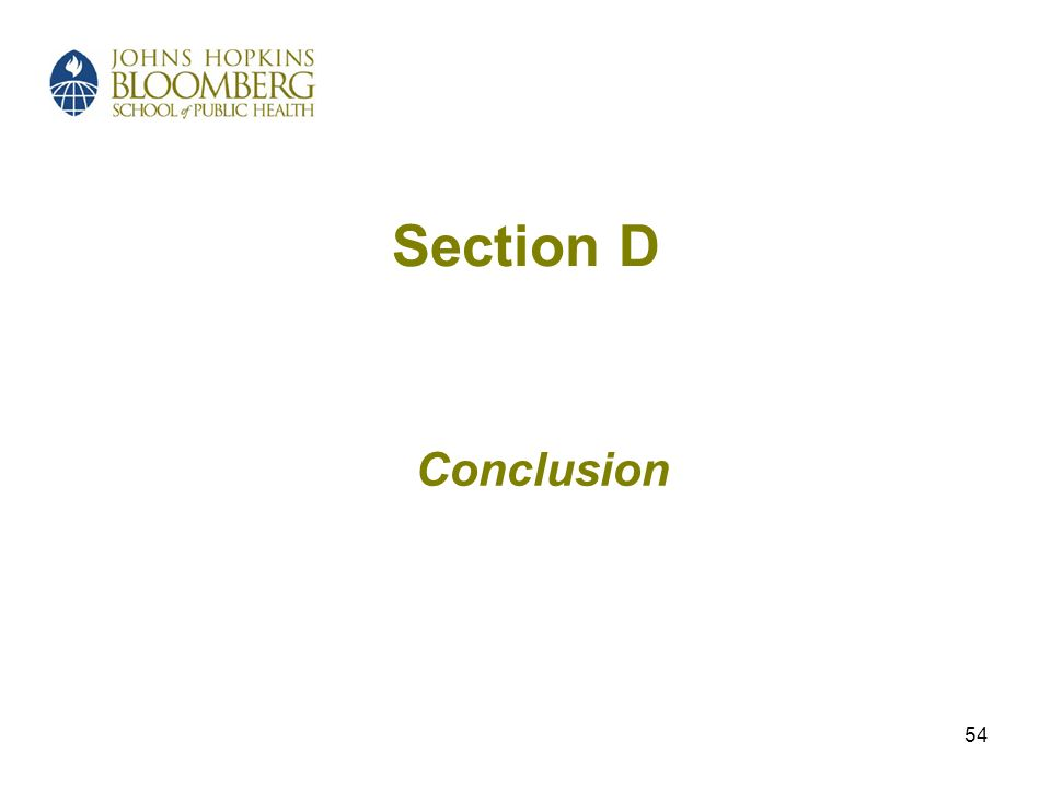 54 Section D Conclusion