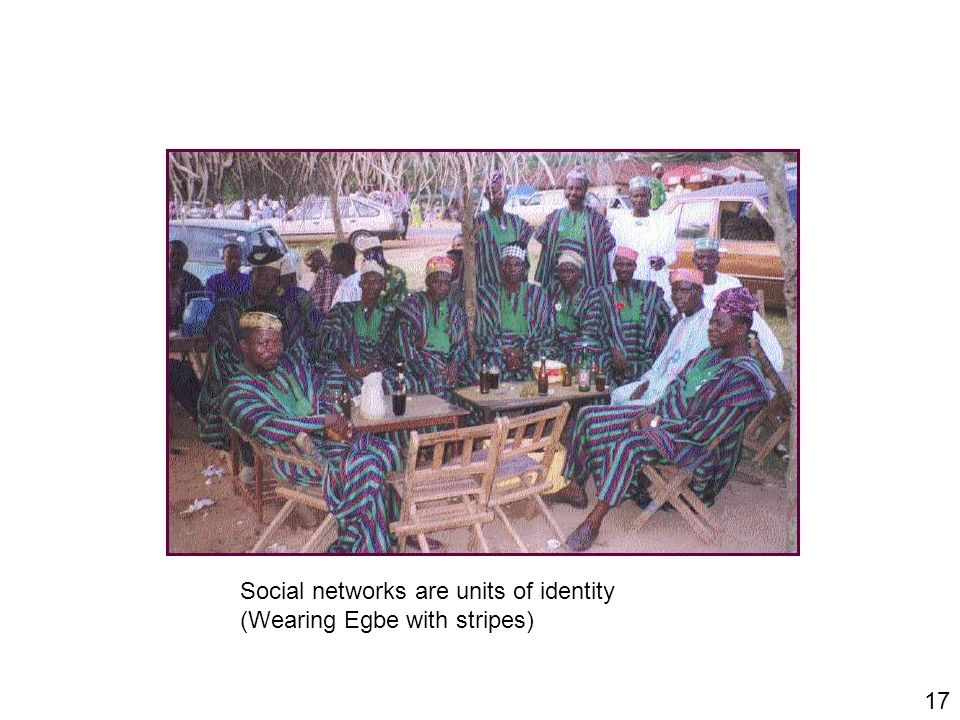 17 Social networks are units of identity (Wearing Egbe with stripes)