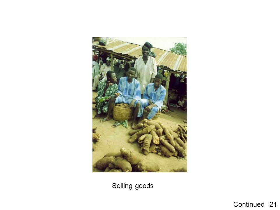 21Continued Selling goods