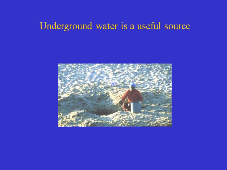 Underground water is a useful source