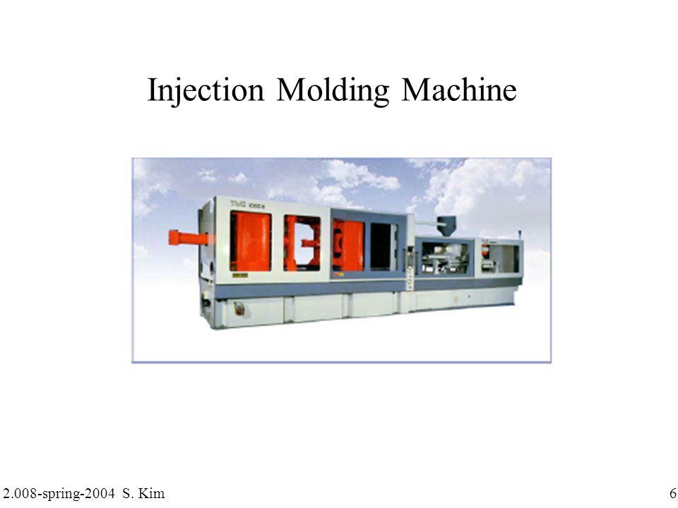 2.008-spring-2004 S. Kim 27 Mold Structure: Undercut, Slide core Undercut