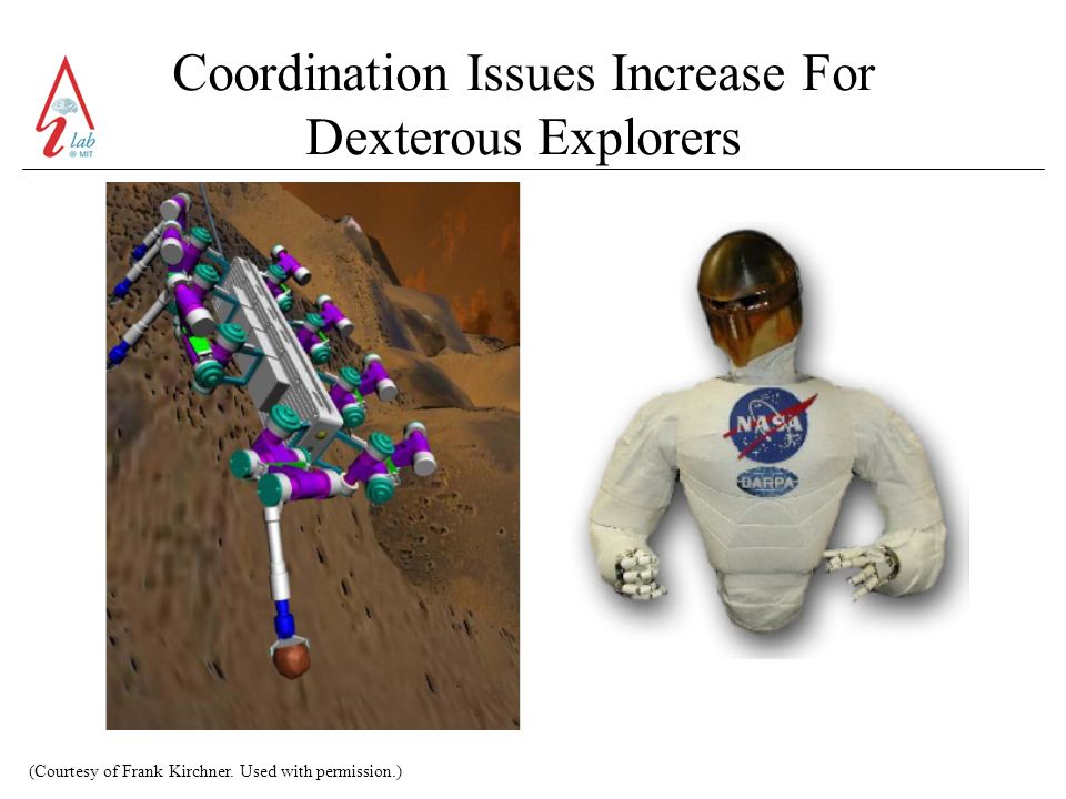 Coordination Issues Increase For Dexterous Explorers (Courtesy of Frank Kirchner.