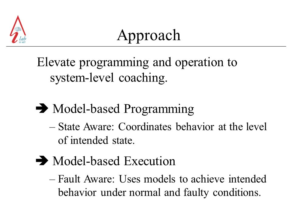 Approach Elevate programming and operation to system-level coaching.