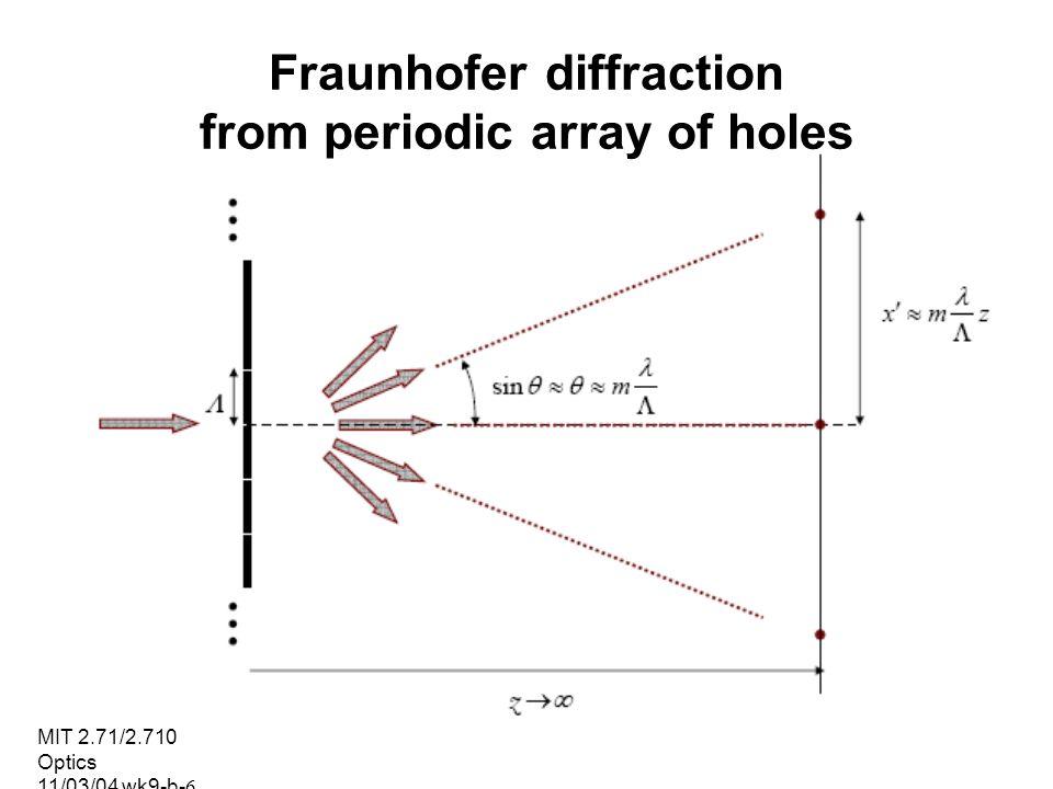 MIT 2.71/2.710 Optics 11/03/04 wk9-b-7 Sinusoidal amplitude grating