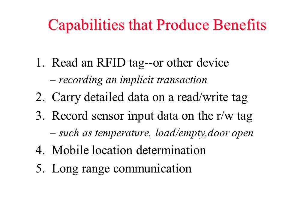 Capabilities that Produce Benefits 1.