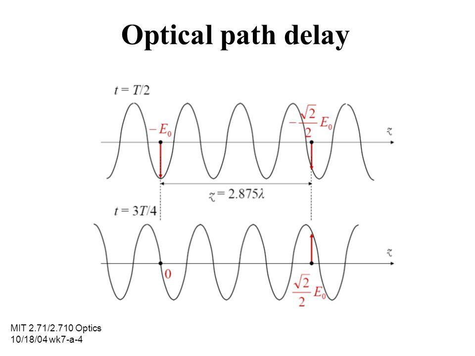 MIT 2.71/2.710 Optics 10/18/04 wk7-a-4 Optical path delay