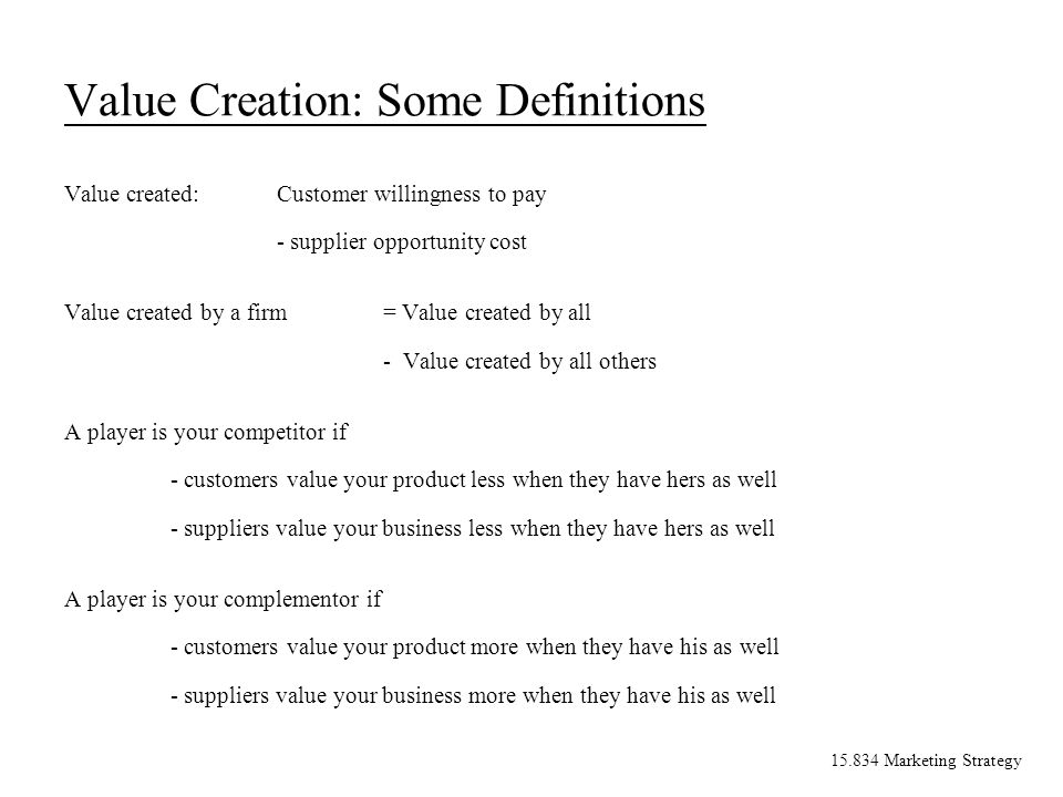 15.834 Marketing Strategy V Creating Corporate Advantage What is Marketing Strategy.