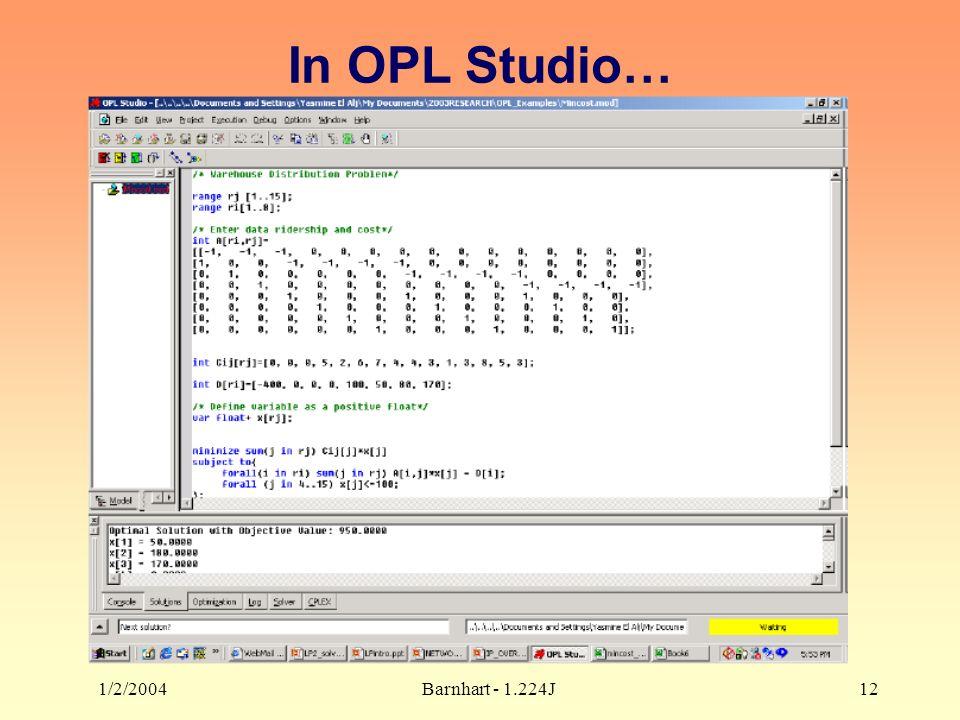 1/2/2004Barnhart - 1.224J12 In OPL Studio…