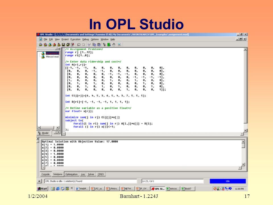 1/2/2004Barnhart - 1.224J17 In OPL Studio