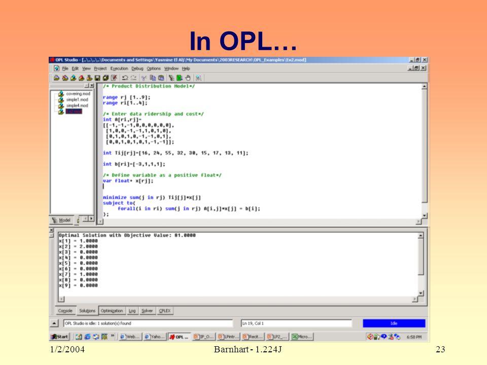 1/2/2004Barnhart - 1.224J23 In OPL…