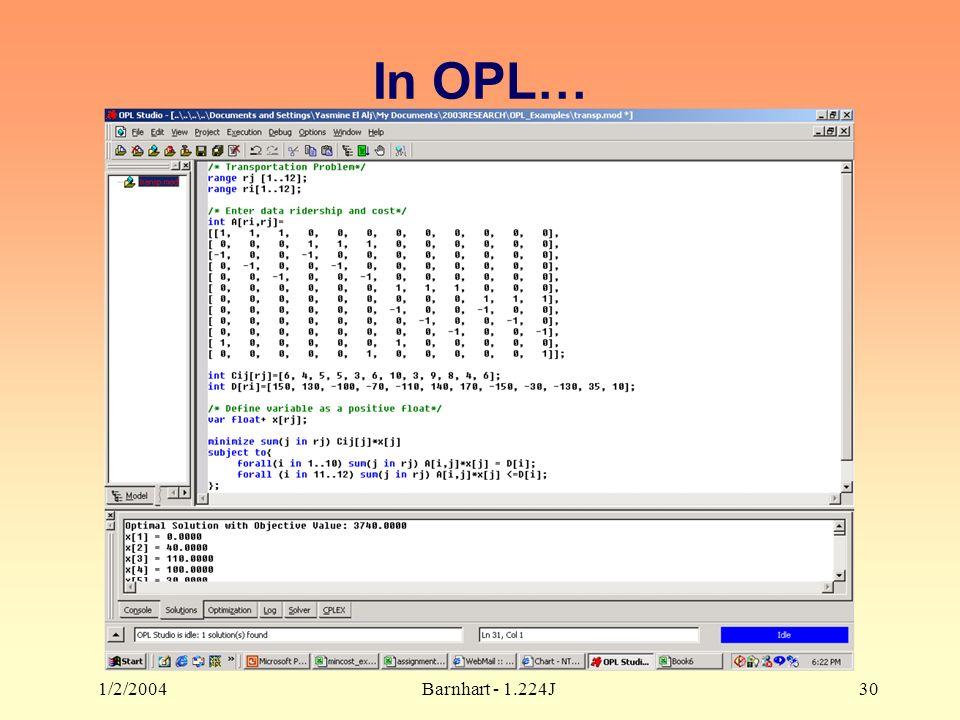 1/2/2004Barnhart - 1.224J30 In OPL…