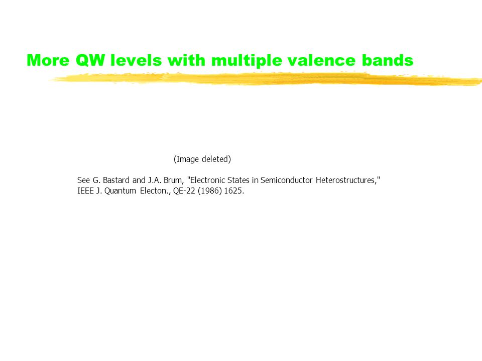 More QW levels with multiple valence bands (Image deleted) See G.