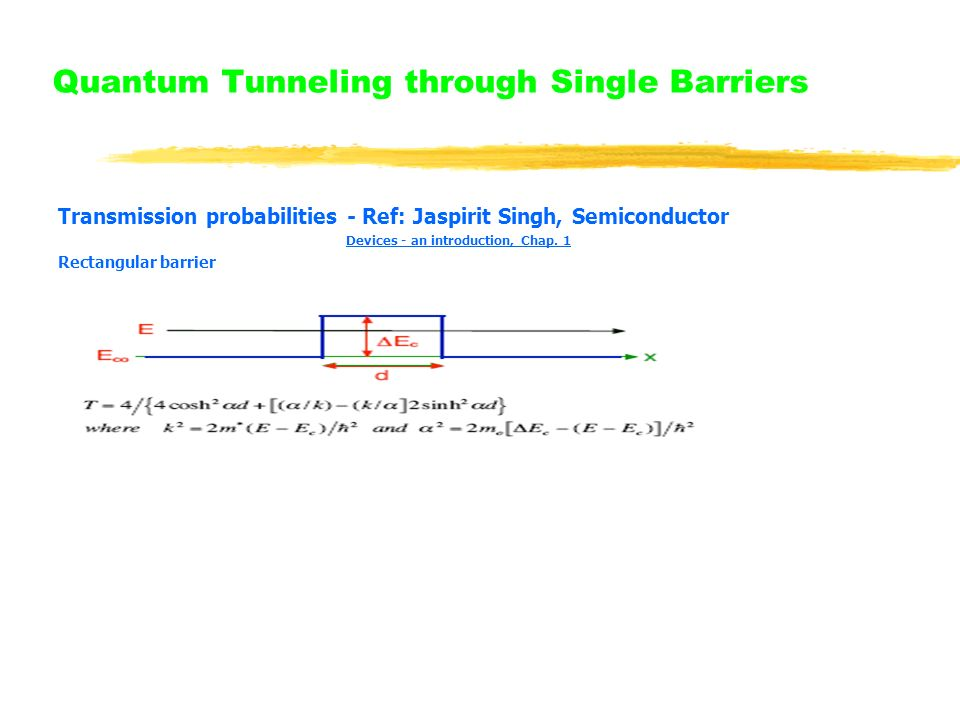 Quantum Tunneling through Single Barriers