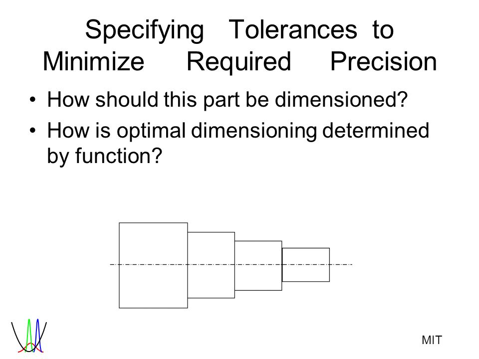 MIT SpecifyingTolerancesto MinimizeRequiredPrecision How should this part be dimensioned? How is optimal dimensioning determined by function?
