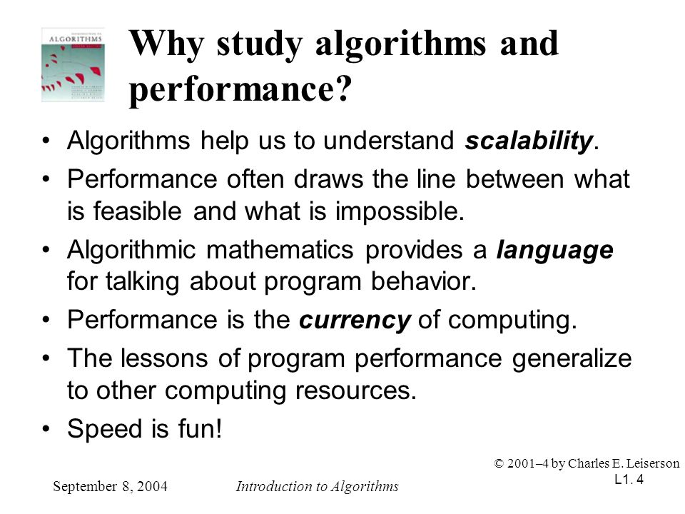 L1.35 Merging two sorted arrays September 8, 2004Introduction to Algorithms © 2001–4 by Charles E.