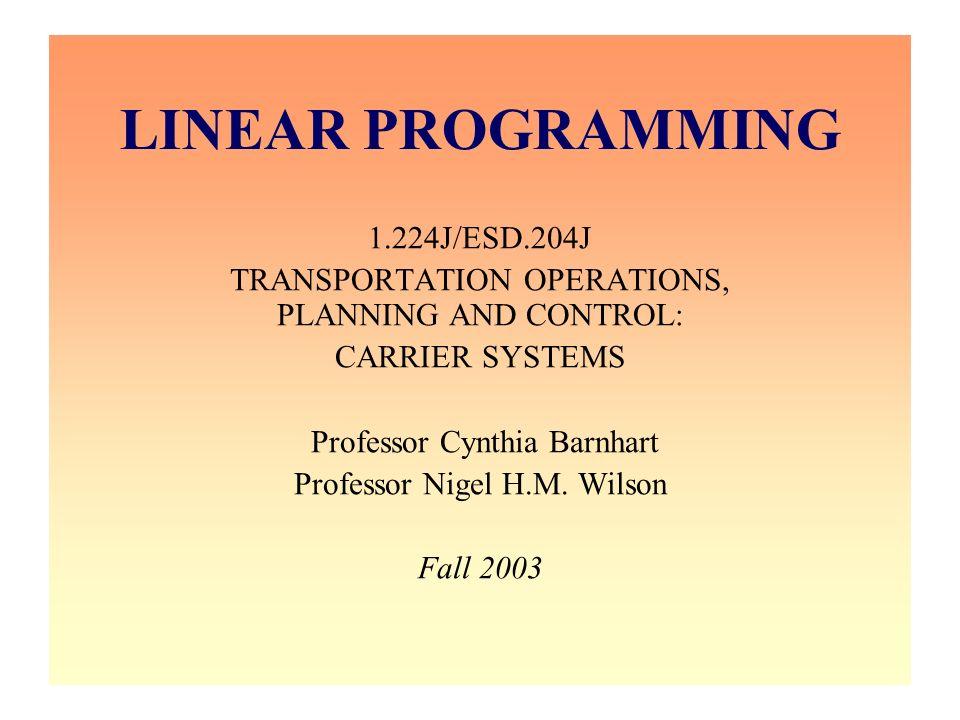 12/31/2003 Barnhart 1.224J 2 Announcements –Reader –Problem set #1 –December 1 recitation & December 5 class –OPL Studio examples